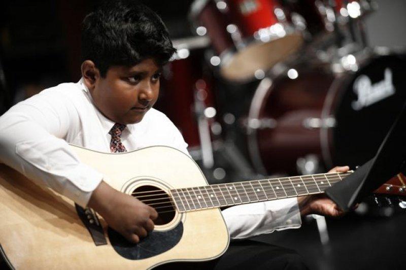 Guitarist Vikram performs